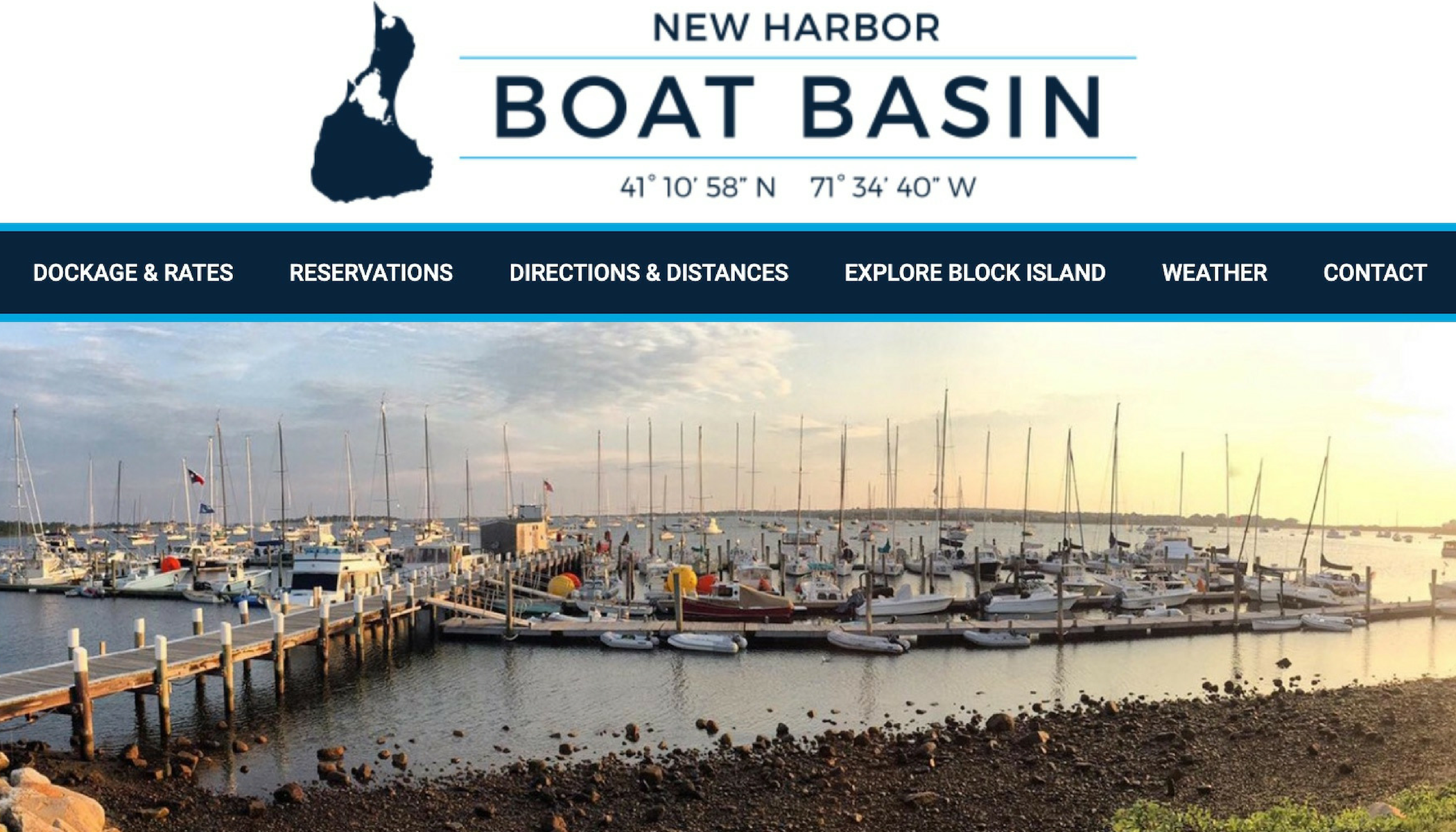 New Harbor Boat Basin on Block Island - new website