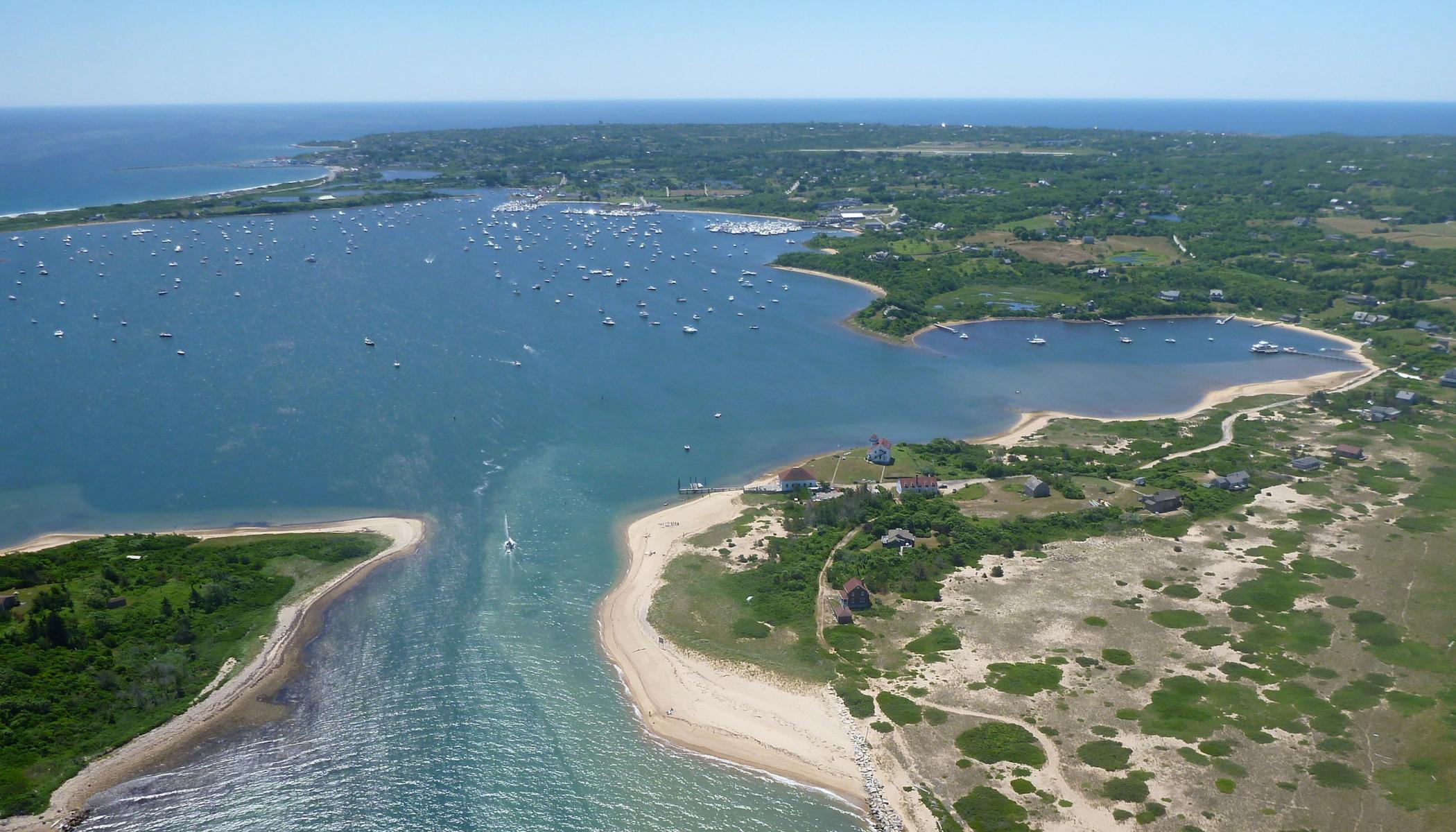 New Harbor Boat Basin from afar