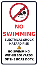 No Swimming- Danger of Electrical Shock