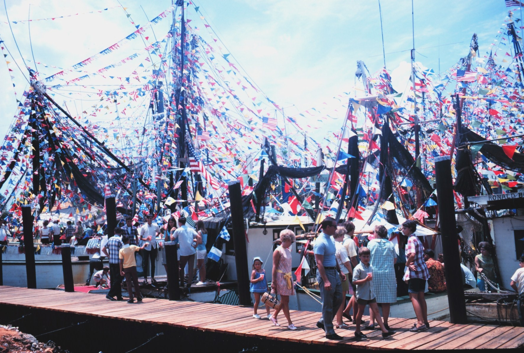 Blessing of the Fleet at Bayou la Batre 1968