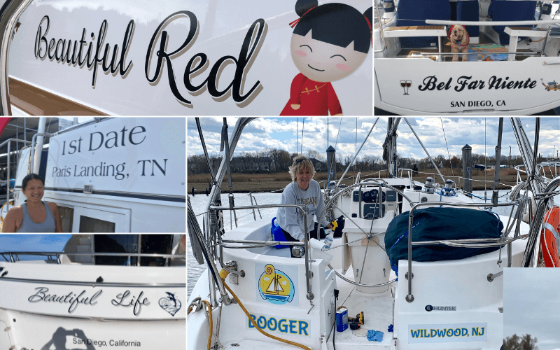 Collection of Boat Names